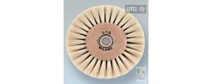 Top quality circular polishing brush goat hair white ø 80 mm UTG
