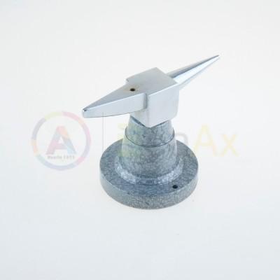 Incudine bicornia in acciaio con base ghisa verniciata 120x70x80 mm peso 790 g.