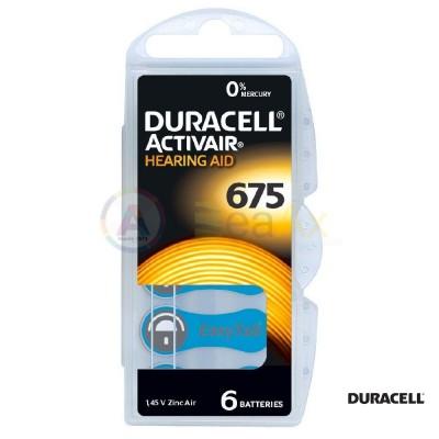Duracell Activair Misura 675 - PR44 Blu pile per apparecchi acustici 6 pz DA675