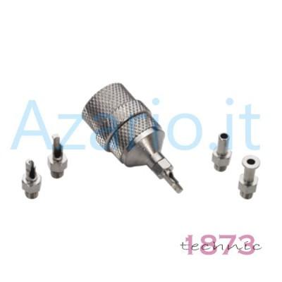 Albero di supporto per flessibile e mini trapano completo di 4 accessori AG0213