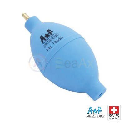 Soffietto caucciù azzurro forma ovale valvola metallica rivestita AF Swiss Made