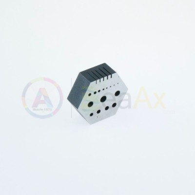 Incudine esagonale in acciaio temprato lucidato 15 fori calibrati 5 incisi 260 g AG0008-19