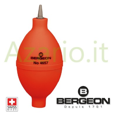 Soffietto soffiatore per polvere in gomma ed ugello PVC Bergeon 4657 Swiss Made BG4657