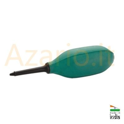 Rubber blower with long plastic nozzle