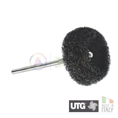 Spazzolino serie Gamma a disco in scotch brite medio ø 25 mm - UTG Made in Italy