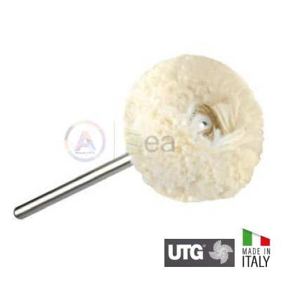 Spazzolino serie Gamma a disco in filo di cotone ø 25 mm - UTG Made in Italy