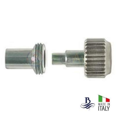 Corona a vite acciaio inox forma RX con tubo cassa e guarnizione - Made in Italy B-105A