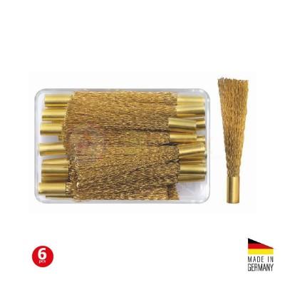 Ricarica spazzolino in fibra di ottone per penna grattapugie - Confezione 6 pz.