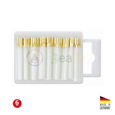 Ricarica spazzolino in fibra di vetro per penna grattapugie - Confezione 6 pz.