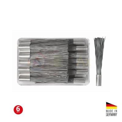 Ricarica spazzolino in fibra di acciaio per penna grattapugie - Confezione 6 pz.