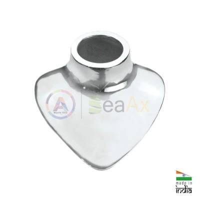 Busto in acciaio lucido per lavorazioni su collane e girocolli 195x190x120 mm
