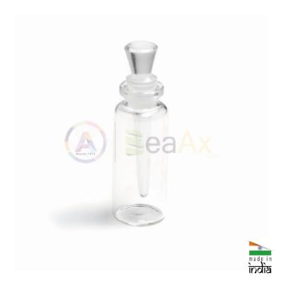 Flacone porta acido di forma quadra in vetro con tappo / dosatore 20x20x65 mm