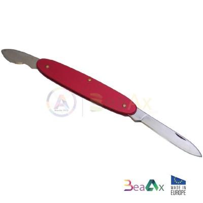 Apricasse coltellino BeaAx rosso 2 lame retrattili acciaio fondi a scatto