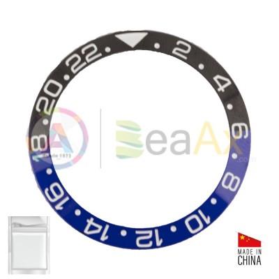 Inserto in ceramica per ghiera Rolex GMT Master II bi-colore Blu Nero 116710BLNR RX-315.116710.BLNR