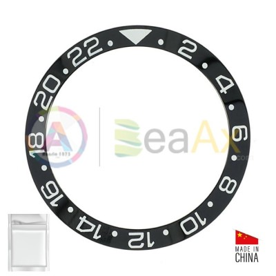 Ceramic bezel insert for Rolex GMT Master II Black with silver index 116710.LN