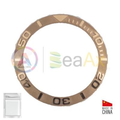Inserto in metallo Rosa, Lunetta / Ghiera per orologio Rolex Yacht Master 116621
