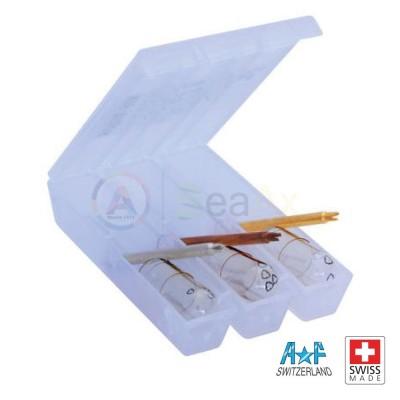 Serie AF Swiss 3 utensili e 15 mollette di ricambio per ammortizzatori Kif Trior