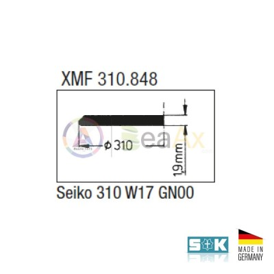 Vetro compatibile Seiko XMF 310.848 310W17GN minerale Sternkreuz Made in Germany XMF-310.848