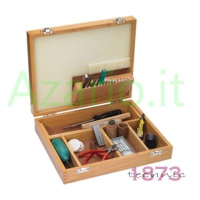Kit base di attrezzatura amatoriale per orologeria con custodia in legno TS0468