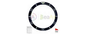 Ceramic bezel insert for Rolex Submariner Black with silver index 116610