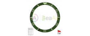 Inserto in ceramica per ghiera Rolex Submariner Verde indici argento 116610.LV