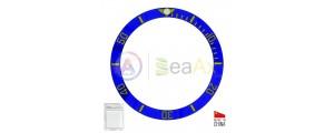 Ceramic bezel insert for Rolex Submariner Blue with gold index 116613.LB