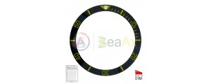 Ceramic bezel insert for Rolex Submariner Black with gold index 116613.LN