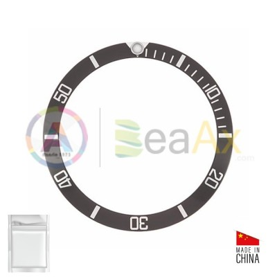 Aluminium bezel insert for Rolex Submariner Black silver index 5512 5513 1680