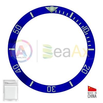Inserto in ceramica per ghiera Rolex Submariner Blu indici argento 116619.LB