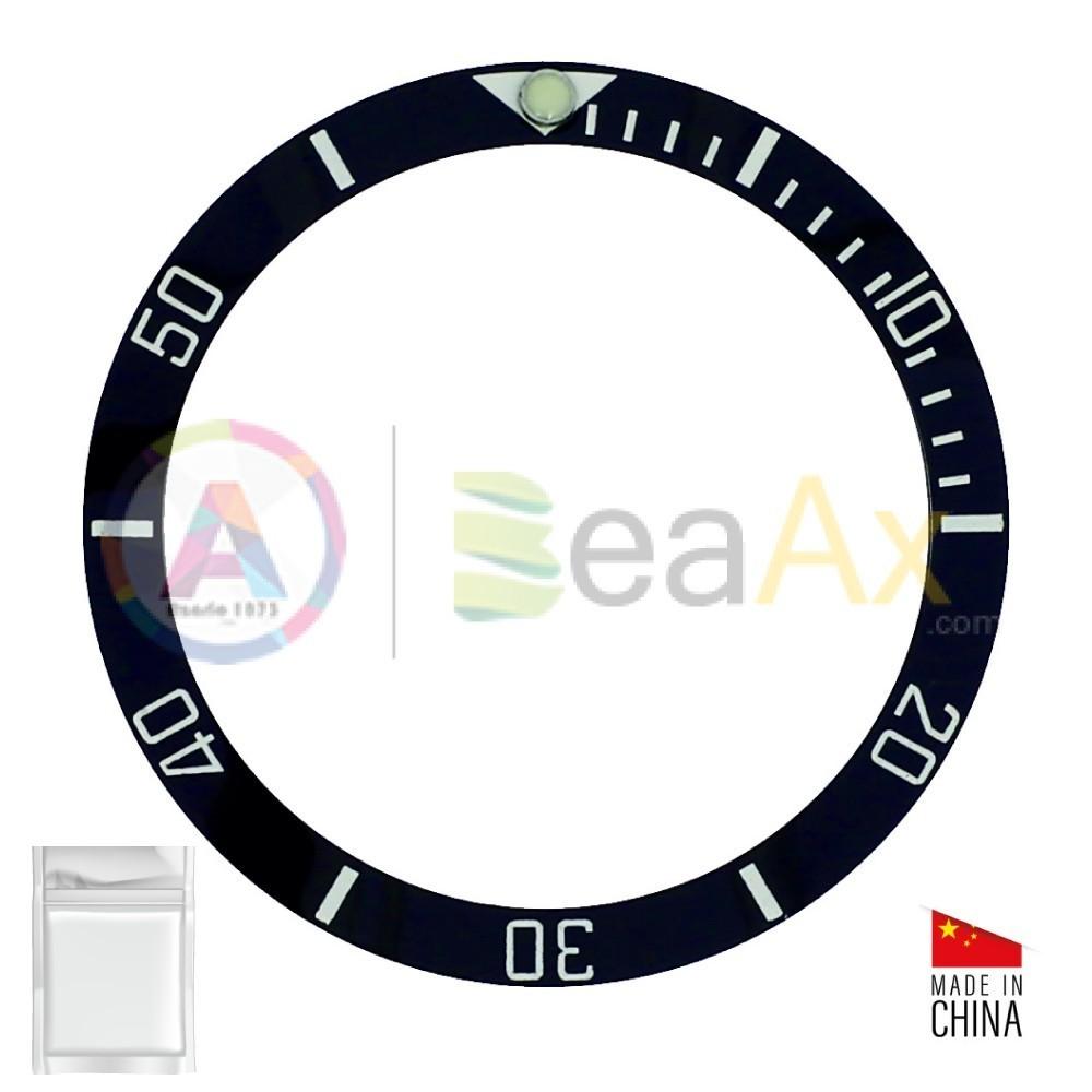 Inserto in ceramica per ghiera Rolex Sea-Dweller Deepsea Nero indici argento RX-315.126600