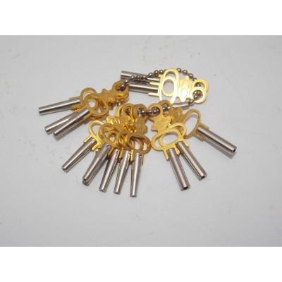 Chiavi carica orologi tasca 14 pz taschino custodia vintage Pocket Watch Key