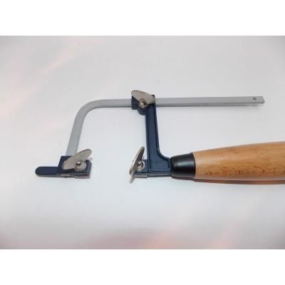 Archetto in metallo regolabile rinforzato manico legno seghetto orafo orologeria AG1364