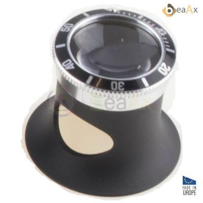 Monocolo in alluminio nero con ghiera stile Submariner nero lente zaffiro ø 22 mm BX7064-SB