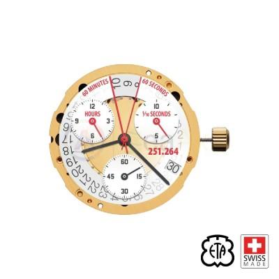 Quartz movement ETA 251.264 date 4 Horizontal replacement 251.262 Swiss Made