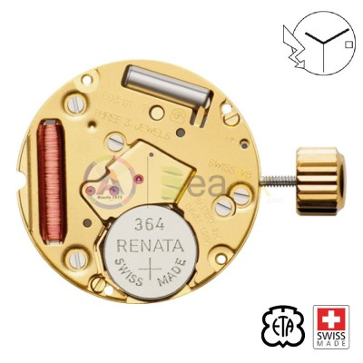 Movimento al quarzo ETA F03.111 3 sfere data H6 Swiss Made - In esaurimento ETA-F03.111-H6