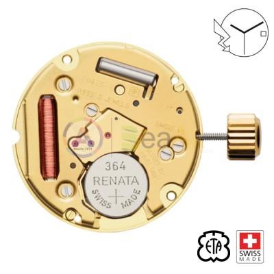 Movimento al quarzo ETA F04.111 3 sfere data H3 Swiss Made - In esaurimento ETA-F04.111