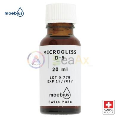 Olio MOEBIUS 20 ml Microgliss D5 lubrificazione meccanica di precisione orologi