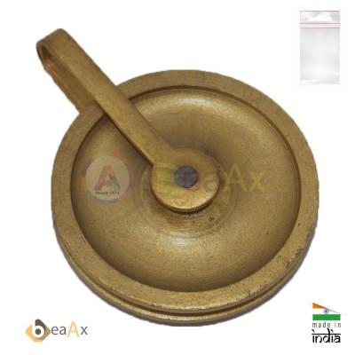 Puleggia carrucola in ottone, ricambio per pendoleria ø 38 mm per pesi con corda