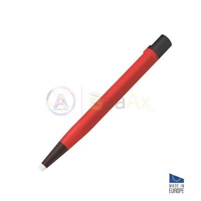 Spazzolino grattapugia a forma di penna con inserto in fibra di vetro ø 4.30 mm