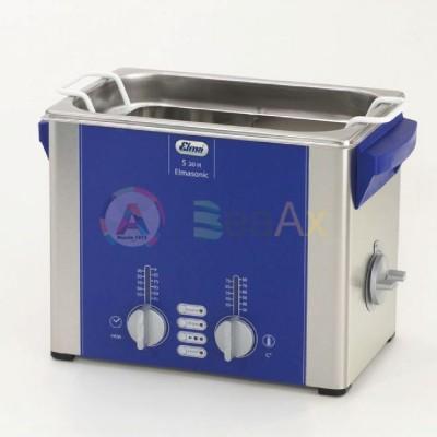 Vasca di lavaggio ad Ultrasuoni ELMASONIC S30H riscaldamento e coperchio 2,75 lt BL5510.S030H