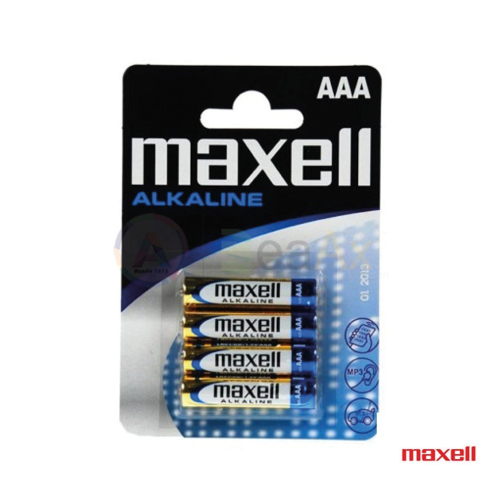 Batteria pila Alcalina 1.5 V ministilo AAA Maxell LR3 confezionate blister 4 pz. LR3M