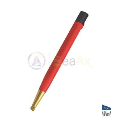 Spazzolino grattapugia a forma di penna con inserto in fibra di ottone ø 4.30 mm AG0316
