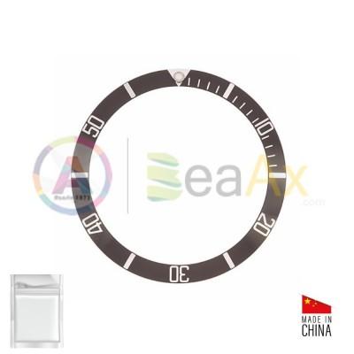 Inserto in alluminio per ghiera Rolex Submariner Nero Argento 14060 14060M RX-315.14060.81