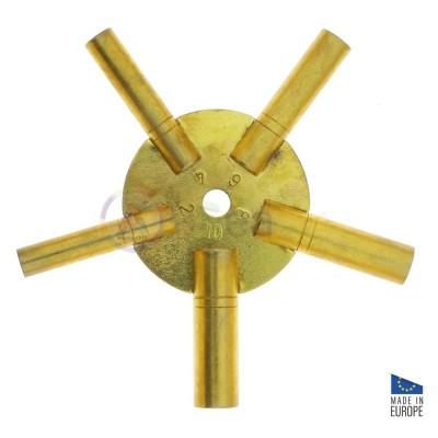 Five arm clock key n° 2, 4, 6, 8 and 10