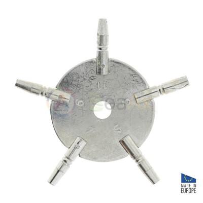 Chiave di carica per orologi da tasca in metallo 5 misure dispari 3, 5, 7, 9, 11