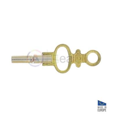 Chiave per orologi da tasca in ottone e testa in metallo nichelato in 14 misure