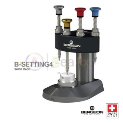 Bergeon B-Setting4 potenza piazzalancette con 4 punzoni scorrevoli Ref. 8935 BG8935