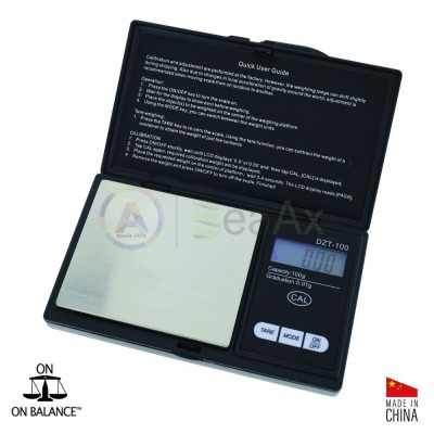 Digital pocket scale On Balance® model DZT100 - Capacity. 100 g. Graduation. 0.01 g.