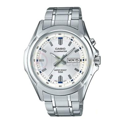 Orologio Casio Collection MTP-E205D-7AV uomo acciaio analogico quarzo bianco MTP-E205D-7AV