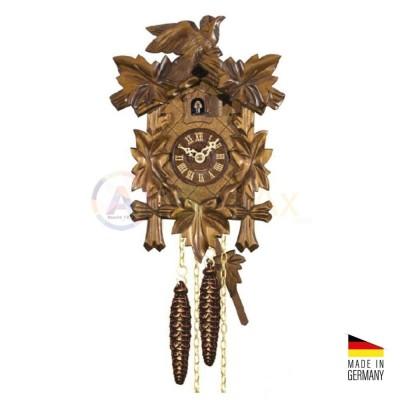 Orologio Cucù tradizionale in legno marrone scuro 'noce' 30 cm - Made in Germany